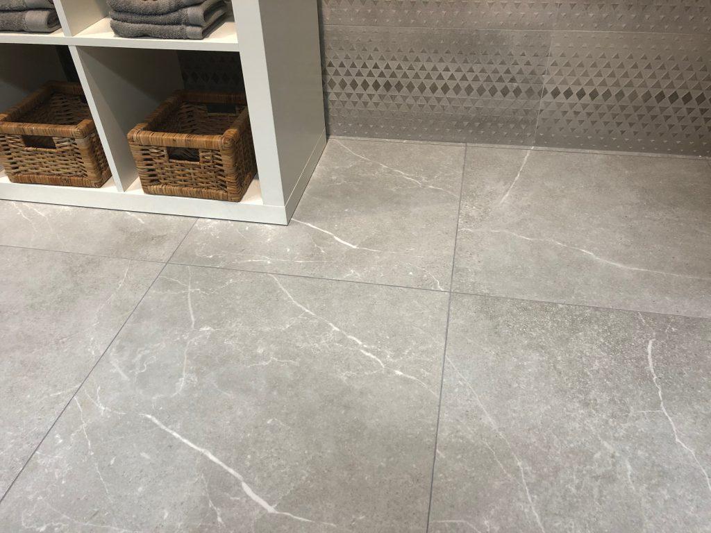 Keramische Tuintegels 60x60.Marble Stone Grey Rect