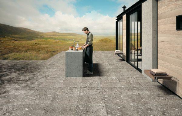 Terrastegels - Farg Grigio Rect. Outdoor